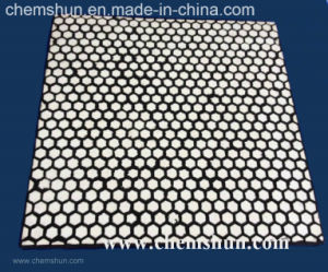 Impato - telha sextavada Vulcanized do desgaste forro cerâmico resistente (500*500mm)