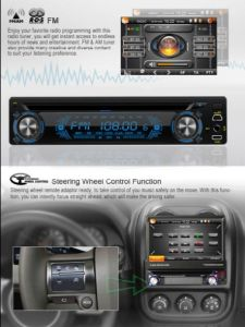 1 automobile DVD GPS del pannello del Anti-Ladro di BACCANO con un tocco Screen+Free Igo Map+3D Ui (RTD8300) di 7 pollici