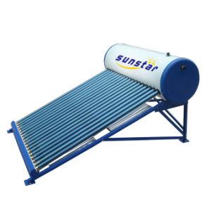 非加圧ガラス管の太陽給湯装置