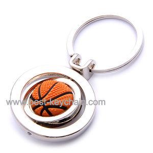 승진 방적공 주문 PVC 농구 금속 열쇠 고리 (BK52109)