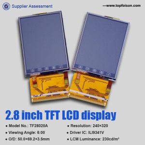2.8 Anzeige des Zoll-240*320 TFT LCD mit Note Panel-TF28018b