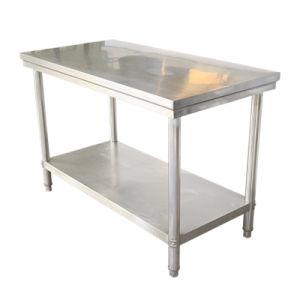 Mobilier commercial Undershelf Worbench 2 Tie Table de travail avec table en acier inoxydable