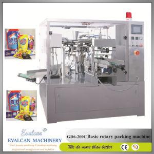 Alimento granulado sólido y automática máquina de envasado rotativo