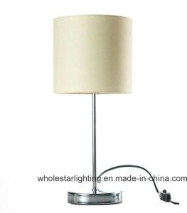 직물 그늘 (WH-564)를 가진 현대 금속 테이블 램프 그리고 전기 스탠드
