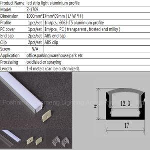 17mm*09mm de perfil de aluminio TIRA DE LEDS