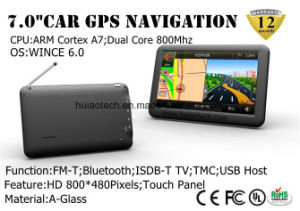 7.0  FM 전송기, Avin 후방 사진기, 소형 GPS 항해 체계, 이동 전화, Tmc 추적자, 텔레비젼을%s Bluetooth를 가진 대쉬보드 차 트럭 바다 GPS 항법,
