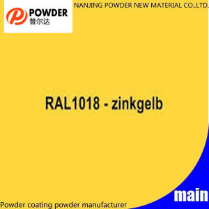 Elektrostatische thermostatoplastische Zink-Gelb Ral 1018 Puder-Beschichtung