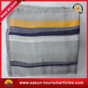高品質安い価格の柔らかいブラシをかけられた航空会社の格子縞毛布