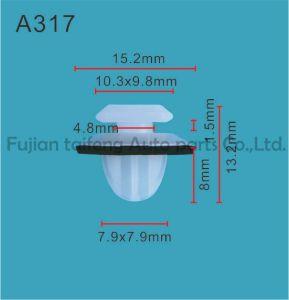 Pl-20 Nylonplastic rivet de fixation auto Snap Push des rivets en plastique