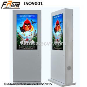 Hohe Helligkeit 47 Zoll Outdoor& LCD Digital Signage-Fußboden, der Spieler-Bildschirmanzeige bekanntmachend steht