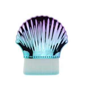 Coquille de forme de cercle des professionnels de la brosse de maquillage, de la mode doux en poudre Foundation l'outil de dessin