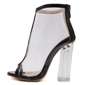 Señoras personalizada Bombas de Perspex mujer sexy parte zapatos de tacones altos