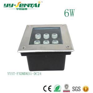 6W広場のための屋外の正方形LED地下ライト
