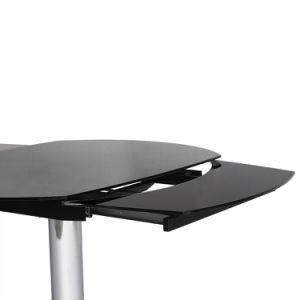 Neuer Entwurfs-ausgeglichenes Glas mit Metallspeisetische