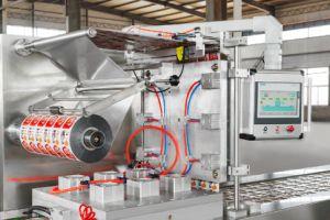 自動ガスのフラッシュThermoformingのフィルムの真空のパッキング機械
