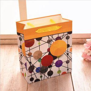 Patrón geométrico de compras de moda bolsa de regalo de papel