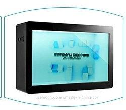 Yashi transparent de 43 pouces LCD avec affichage de publicité Multi optionnel Interface