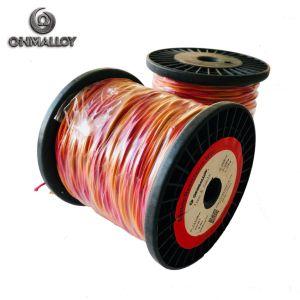 Isolamento de fibra de cabo de extensão do termopar tipo K 0,71 mm x 2 100 m/ cabo de extensão do rolo