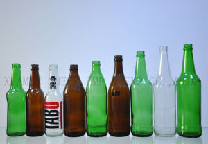 Bernsteinfarbige des China-Lieferanten-330ml kundenspezifische/blaue/freie leere Glasflasche für Bier