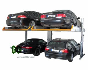 A altura de elevação de 2100 mm 2,3 toneladas duas pós nível 2 Veículo Elevador Estacionamento Garagem