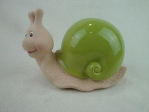 Figurine d\'escargot de jardin en céramique pour la décoration de ...
