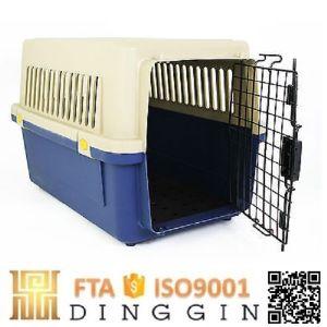 販売ペットキャリアのケージのための小さいプラスチック飛行犬小屋