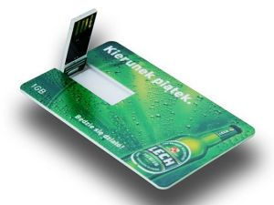 2つの側面の薄い名刺USBのフラッシュ・メモリのカードの完全な印刷はレイアウトを解放する