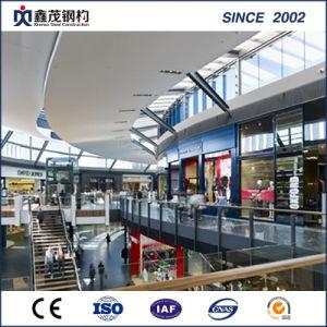 Galvanizado prefabricados de estructura de acero comercial edificio con la norma ISO