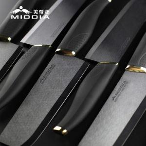 ジルコニアの黒い陶磁器の包丁はナイフのホールダーとセットした