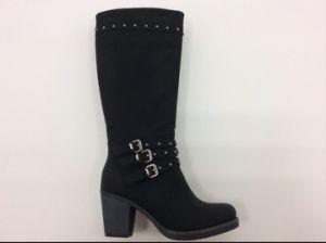 Nouveau mode d'arrivée Chuncky talon Mesdames Boot avec rivets (S 13)