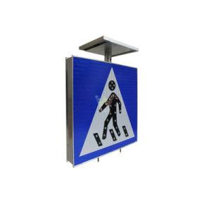 Алюминий пешеходной безопасности дорожного движения Солнечной светодиод трафика подписать