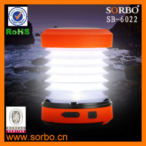 Manivela exterior portátil telescópica LED Linterna de camping