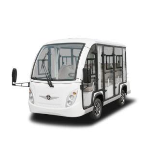 China-elektrischer Doppelventilkegel-Bus mit Tür 8 Seaters für Verkauf