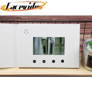 Nouvel outil de marketing de promotion de l'écran LCD 7 pouces blanc Vidéo Brochure Carte d'affaires pour la publicité vidéo vierge Livre cadeau de marque