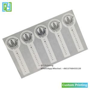 Custom напечатано кофе герметичность расширительного бачка наклейки
