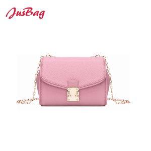 2018袋ピンク新しく甘いカラーPUのハンドバッグの小型クラッチ