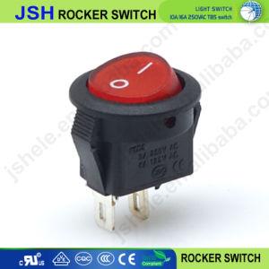Os óvulos e Round 2 pino 3 pino do interruptor oscilante com/sem passagem de luz de marcação RoHS TUV