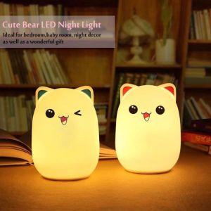 Высокое качество Customizedled красочные ночное освещение для малыша с мягкая силиконовая Shell