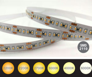 L2.1mm * Striscia flessibile 700 striscia competitiva dell'indicatore luminoso di alta efficienza tester/del LED di W1.0mm SMD2110 LED e della corda delle alte strisce LED di Istruzione Autodidattica LED per la decorazione