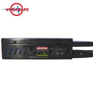 Blocker van de Telefoon van de cel met KoelVentilators, Blocker van de Stoorzender van het Signaal van de Telefoon van de Cel, de Nieuwe Stoorzender van de Telefoon van de Cel van de Hoge Macht van de Stijl Handbediende, 3G GSM CDMA Stoorzender met 2 KoelVentilators