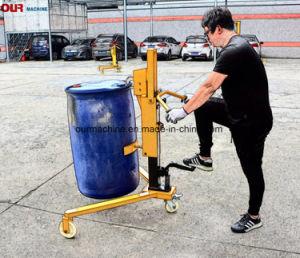 350kg容量プラスチックそしてスチールドラムのバレルのために二重用途油圧手のドラムトラック