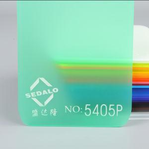 無光沢の緑の風防ガラスのアクリルシート5405p