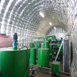 オイルを基づかせる小型石油精製所使用されたエンジンオイルの減圧蒸留機械