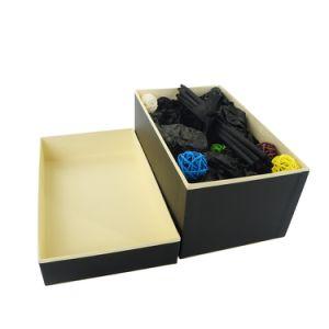 Custom роскошный черный подарочная упаковка магнитное закрытие бумаги картона подарочная упаковка черный глянцевый черный логотип Подарочная упаковка