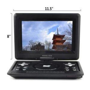 10 인치 휴대용 DVD 스크린은 교체의 270 도를 허용한다