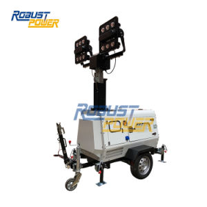4.5kw Water-Cooledディーゼル発電機LED移動式軽いタワー