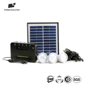 Portátil más vendidos Inicio Sistema Solar con batería de ion de litio de 4 vatios Panel Solar