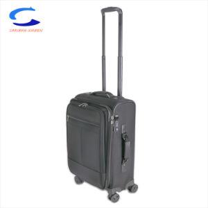 2018 China Corea ODM Nuevo diseño de moda de 17'' del mecanismo de giro negro de 4 ruedas Trolley de bloqueo de seguridad de la TSA equipaje una maleta Hotsale Softside Nylon
