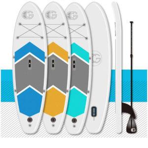 Caída inflable de 6 pulgadas de 10 pies de cosido Sup Surf Stand Up Paddle Board