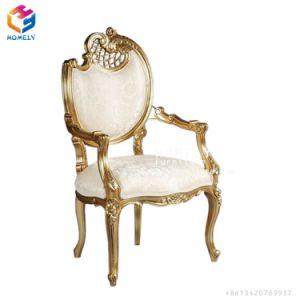 卸し売り安い価格の骨董品の白いホテルの宴会党イベントのDiamond Kids Throne Chair結婚式のための房状のおおい王